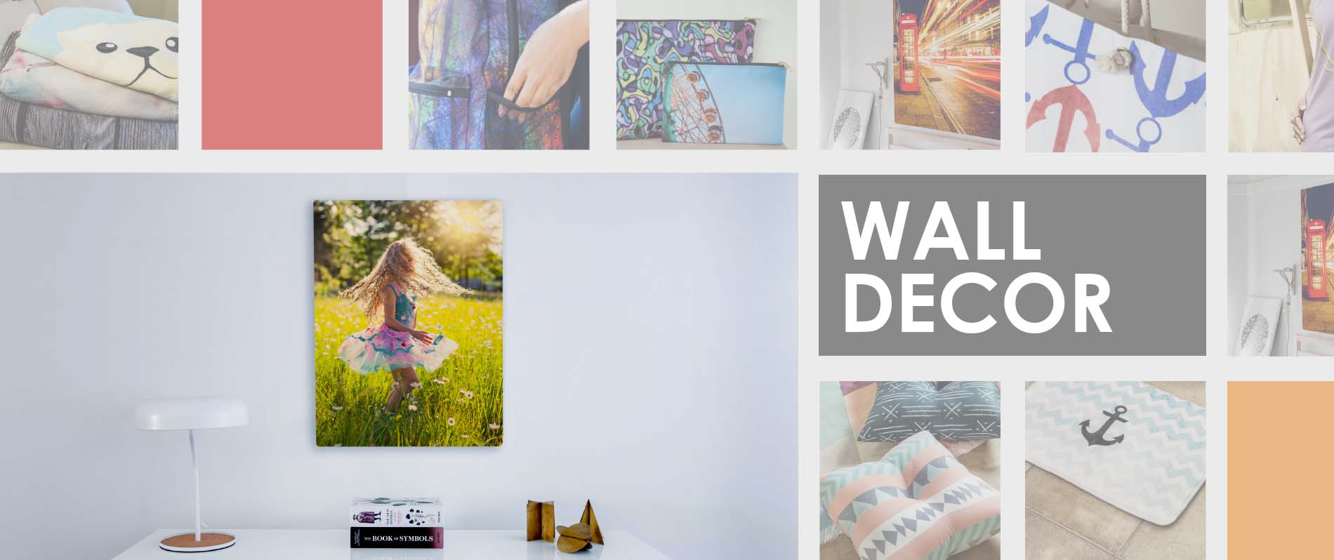 Custom printed home decor, accessories, and apparel!