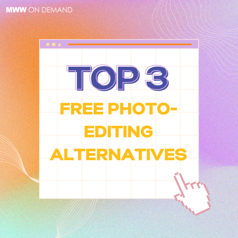 Top 3 Free Photo-Editing Alternatives