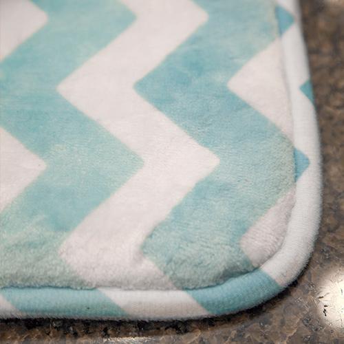 Bath Mat plush microfiber print on demand 3