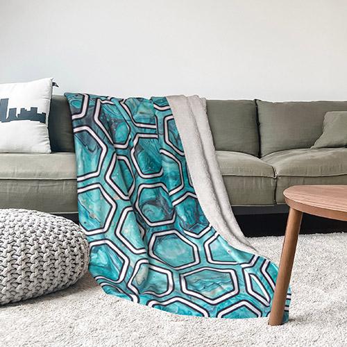 Fleece Blanket print on demand all over print 6