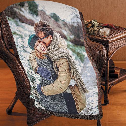 Woven Blanket 100% cotton print on demand 2